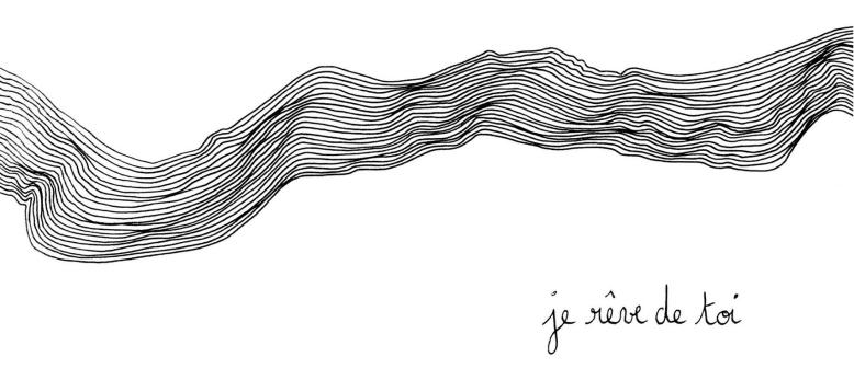 """Illustration pour mug """"Je rêve de toi"""" ©CePresentEstPourToi"""